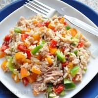Bunter Paprika Reis Salat