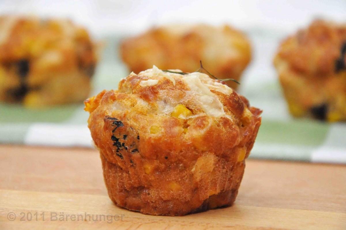 Kürbis Muffin mit getrockneten Tomaten