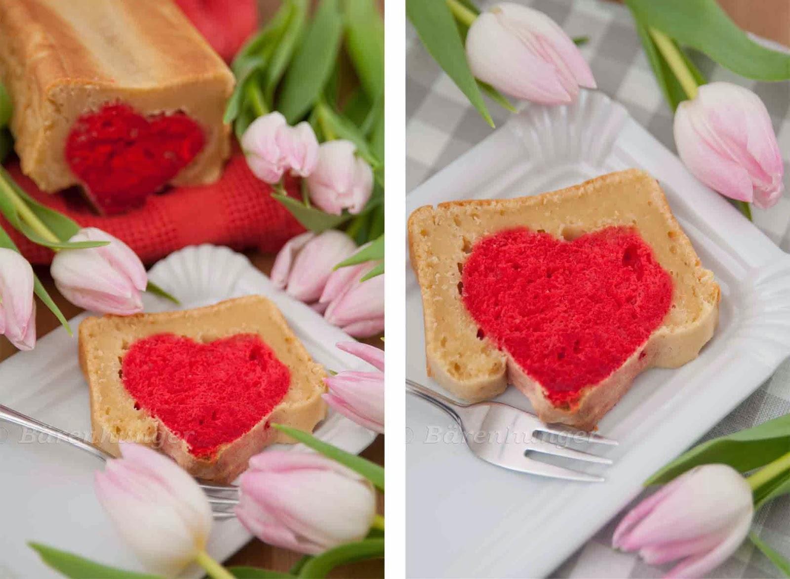 Valentinstags Kastenkuchen Mit Herz