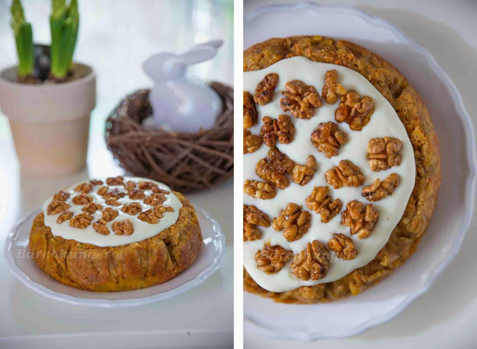 Karotten Walnuss Kuchen