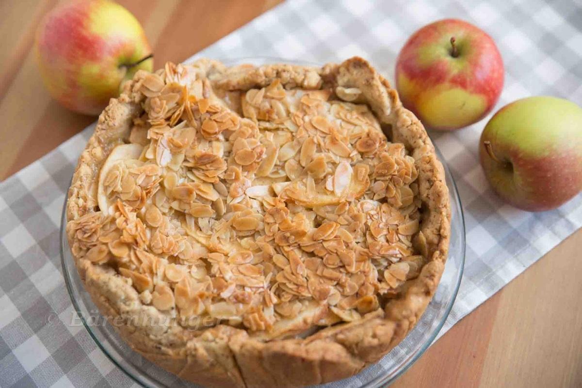 Apfel Mandelkrokant Kuchen