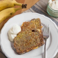 French Toast aus Bananenbrot