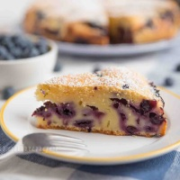 Heidelbeer Vanille Joghurt Kuchen