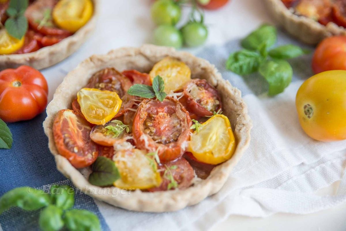 Tomaten Ziegenkäse Tartelette