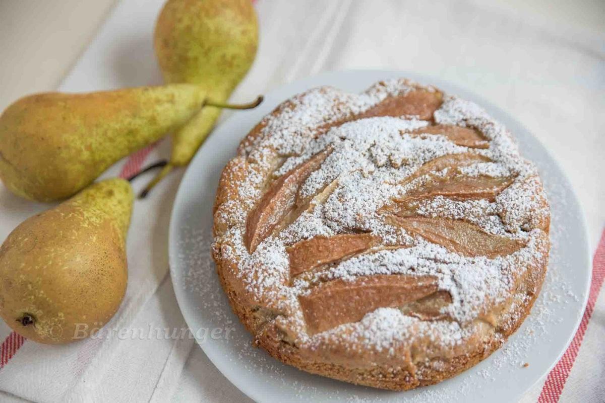 Italienischer Mandel Birnen Kuchen