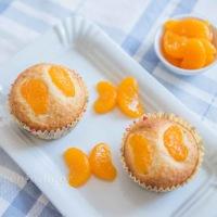 Zitronen Kokos Muffins mit Mandarinen