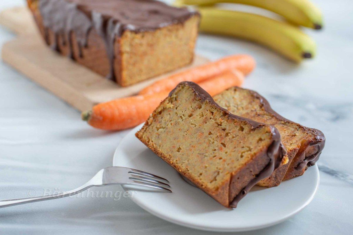 Karotten Bananen Brot
