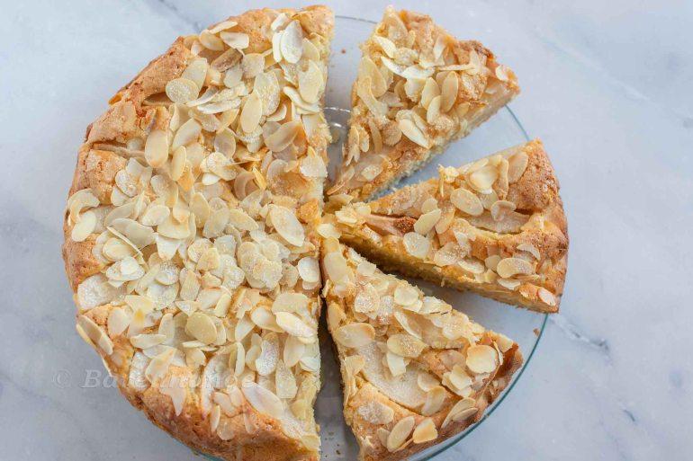 Birnen Mandel Kuchen Mit Creme Fraiche