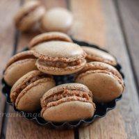 Erdnussbutter Karamell Macarons