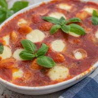 Gnocchi in Tomatensauce aus dem Ofen