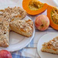 Apfel Kürbis Kuchen mit Streusel
