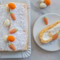 Karotten Biskuit Roulade